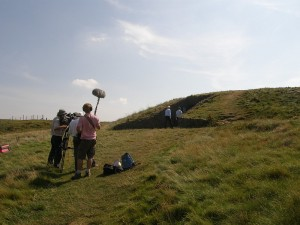 Filming for the BBC Hidden Histories programme