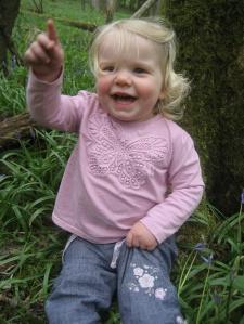 Scarlett in Bluebells