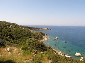 The coastline at Teos, Turkey