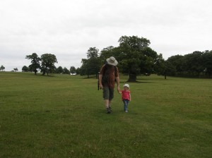 Walking through Woburn Deer Park