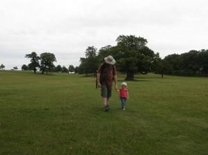 Walking through Woburn Deer Park