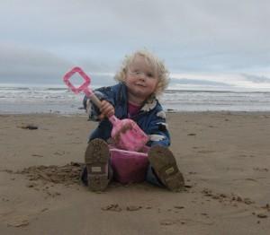 Scarlett on the Beach