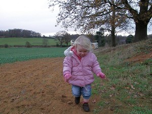 Scarlett in the Field Behind My House