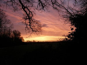 Bedfordshire Sunrise - red sky in the morning, shepherd's warning