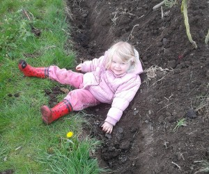 Mucky Girl in the Vegetable Garden